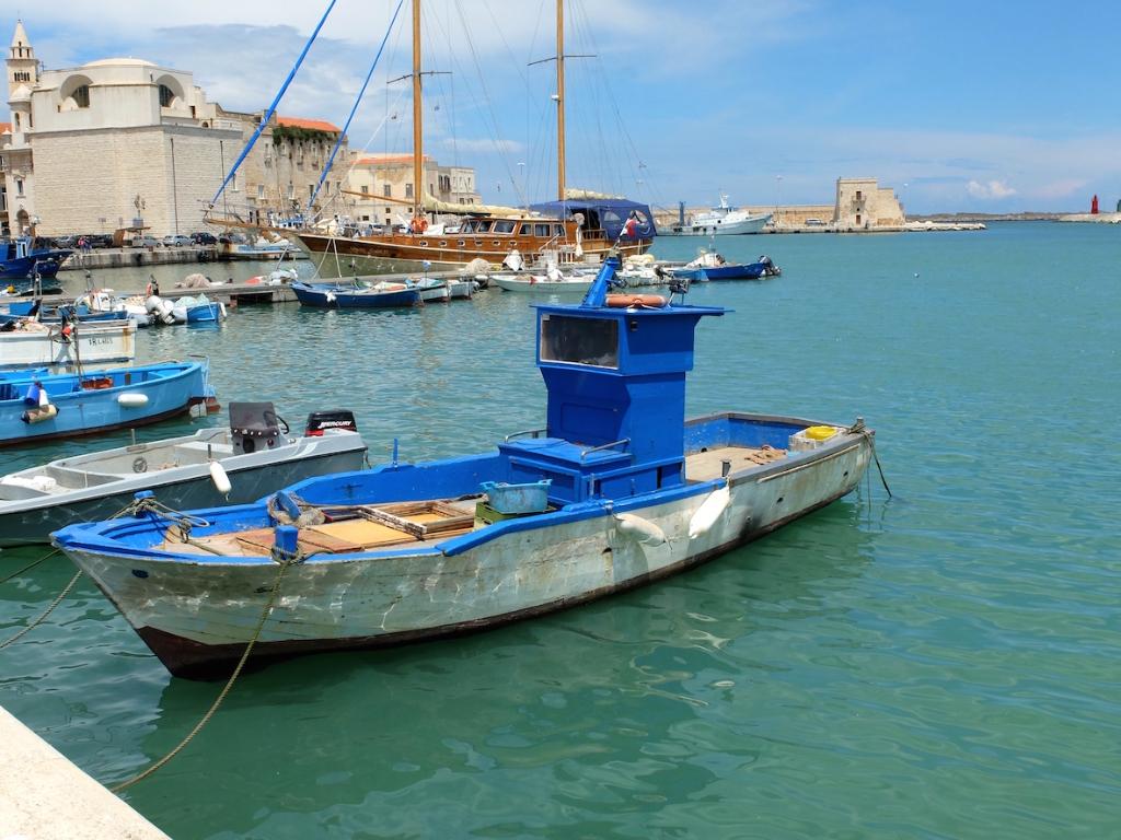 Trani port in Puglia